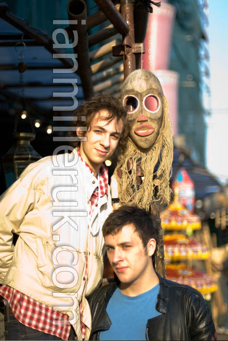 Will and Kai (Mystery Jets 2006) in Stables Market (c) Ian Miller